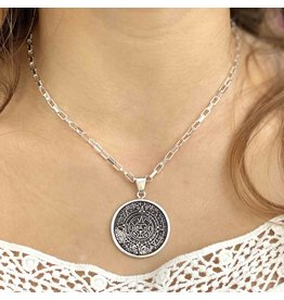 Artisana Aztec Calendar Necklace