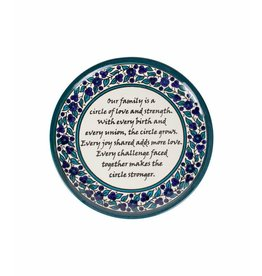 Hebron Glass Family Circle Plate