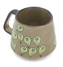 Stoneware Peacock Mug