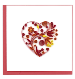 Quilling Card Red Heart Card