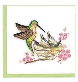 Quilling Card Hummingbird Family Card