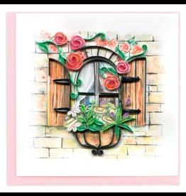 Quilling Card Window Garden Card