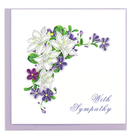 Quilling Card Sympathy Flowers Card
