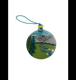 Pampeana Mountain Meadow Glass Ornament