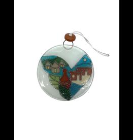 Pampeana Villages Calgary Glass Ornament