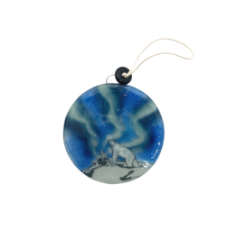 Pampeana Polar Bears Glass Ornament