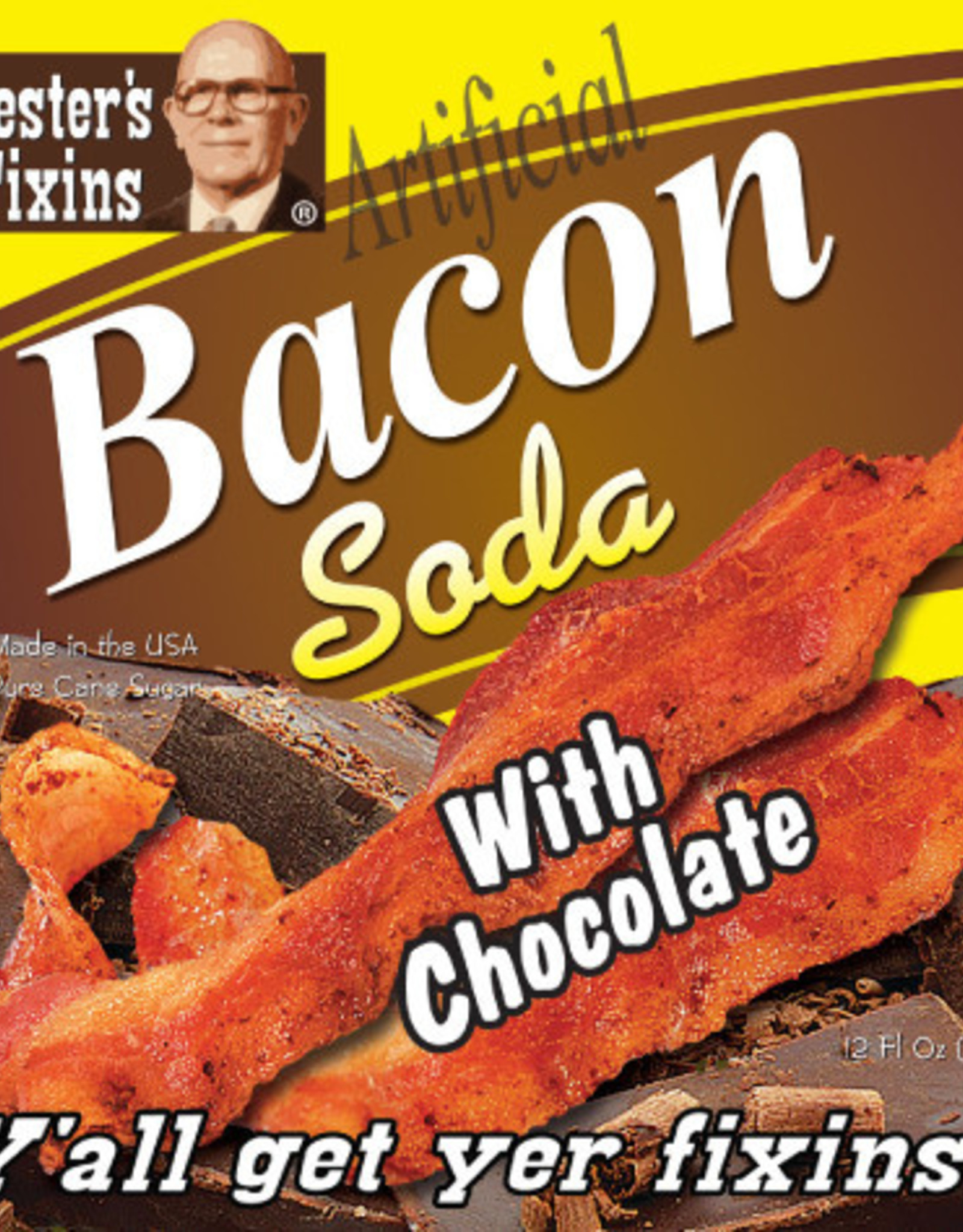 Rocket Fizz Lester's Fixins Bacon with Chocolate Soda