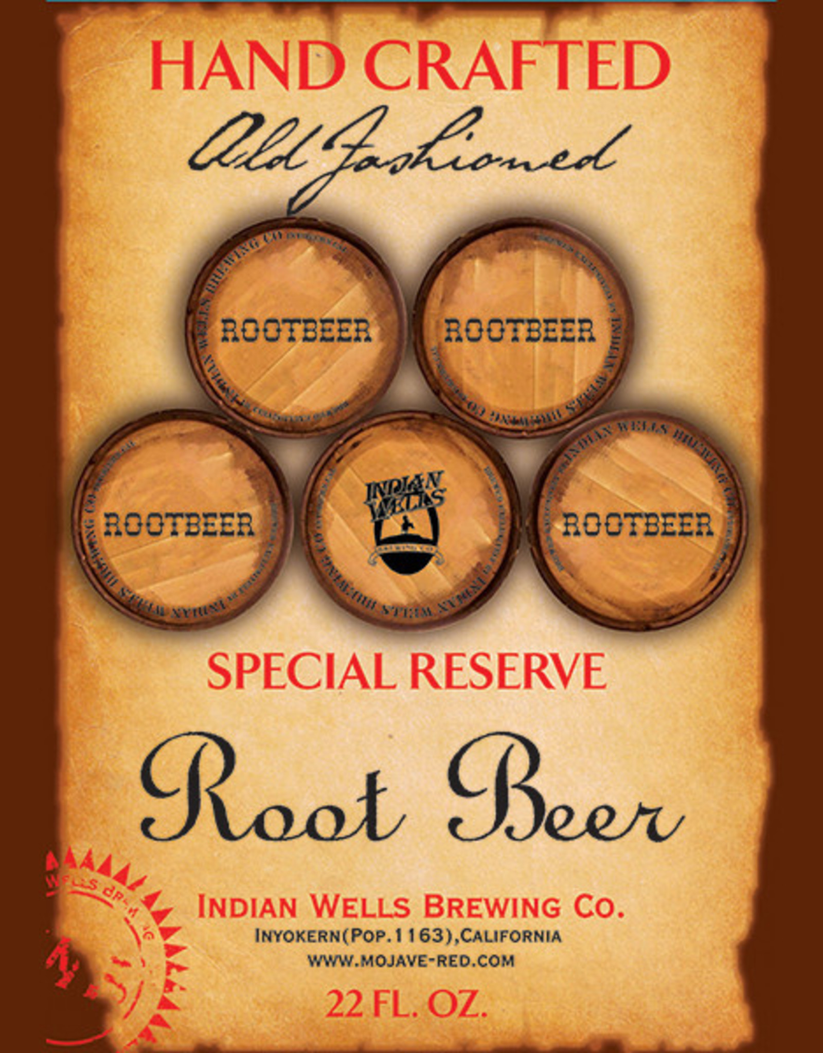 Indian Wells Brewing Company Special Reserve Hand Crafted Root Beer