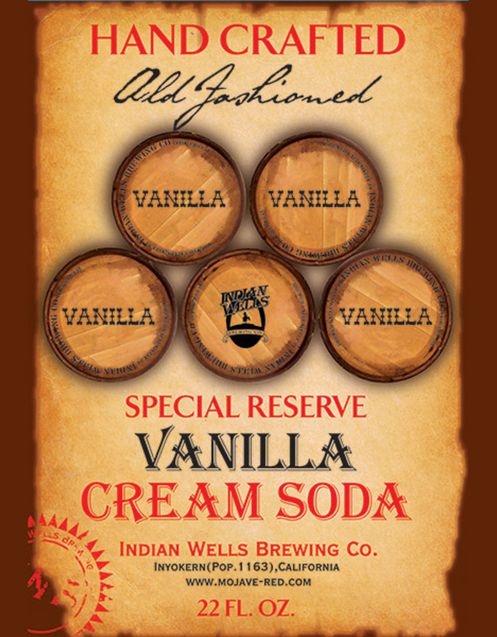 Indian Wells Brewing Company Special Reserve Hand Crafted Vanilla Cream