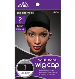 MS. REMI MS. REMI WIG CAP- BLACK- 2 PCS
