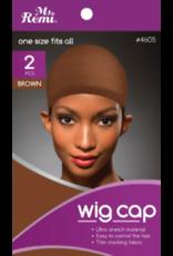 MS. REMI MS. REMI WIG CAP- BROWN  2PCS.