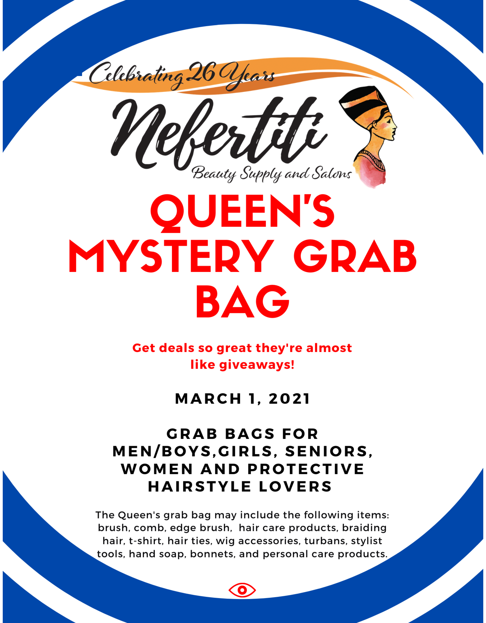 Queen's  Mystery Grab Bag - Get deals so great they're almost like giveaways.
