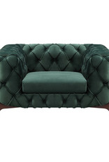 LH Imports LH Barnaby Club Chair Emerald Velvet FZ-10