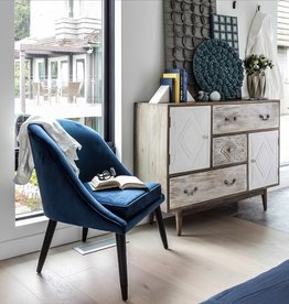 Style In Form SIF Bree Club Chair Ink Blue BRE002