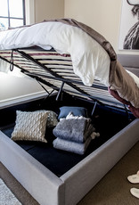 Style In Form SIF Justin Bed Storage Queen Greige JUS-001
