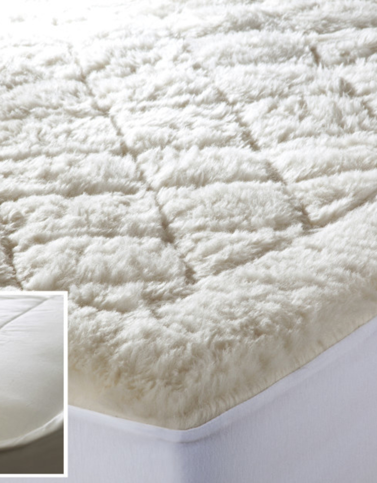 Mattress Pad Kouchini Wool Reversible King