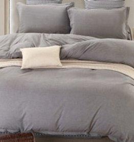 Daniadown Duvet Set Daniadown Grey Chambray King w / Pillow Cases