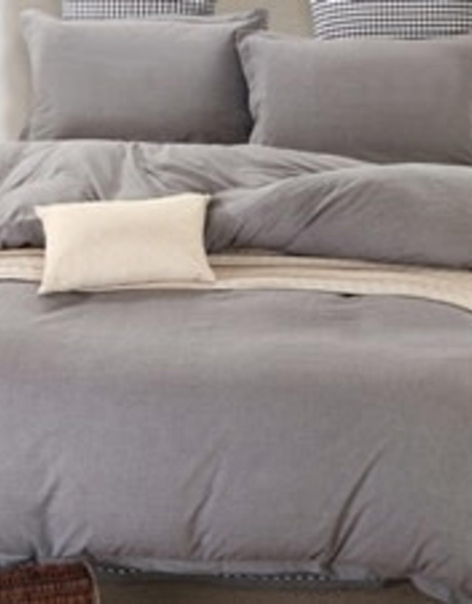 Daniadown Duvet Set Daniadown Grey Chambray Queen w/ Pillow Cases