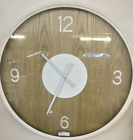 Clocks CJ Wood Glass Creme