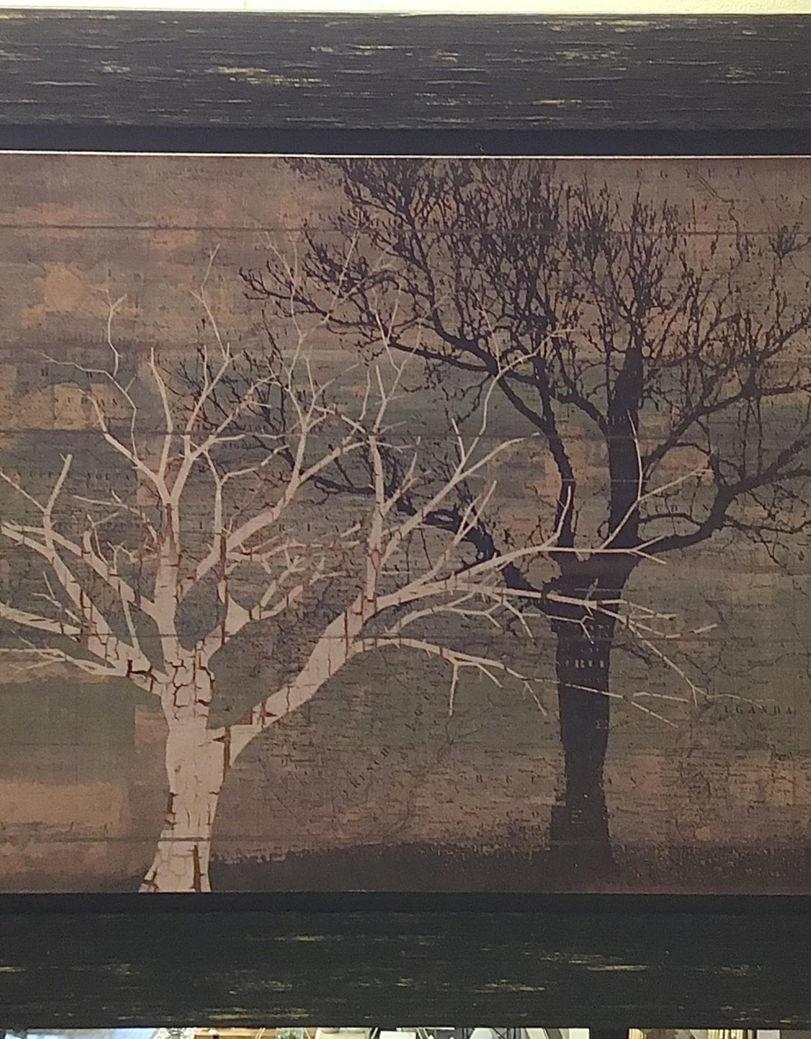 Art Framed Trees at Dusk 1