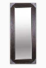 MIrror Northwood Floor Brown Wood Metal Frame