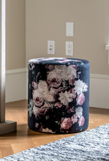 Style In Form SIF Miles Ottoman Black Floral MIL-002