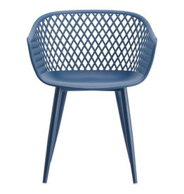 Moes Home Collection Moes Piazza Outdoor Chair Blue QX-1001-26