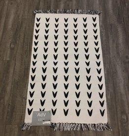 Rugs ADV Printed White Black  V 2 x 3
