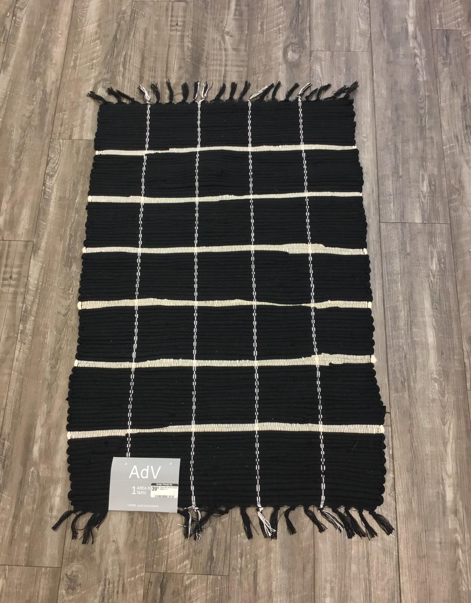 Rugs ADV Chindi Checker Black 2 x 3