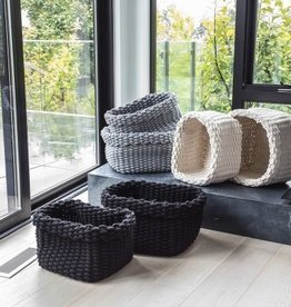 Style In Form Basket SIF Storage Rope Charcoal LG*