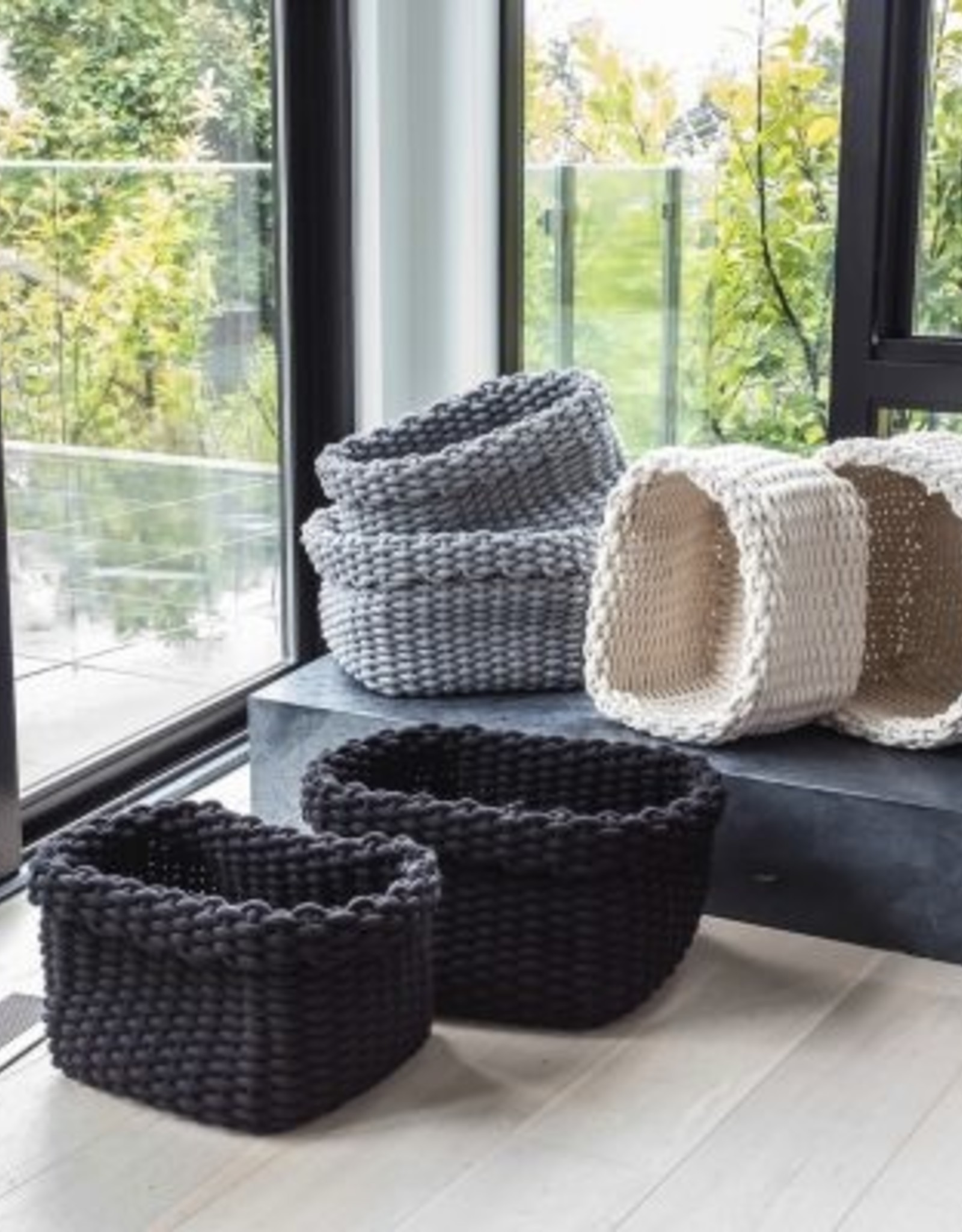 Style In Form Basket SIF Rope Grey LG