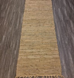 Rugs CBK Chindi Leather Beige Runner 2 x 5'11