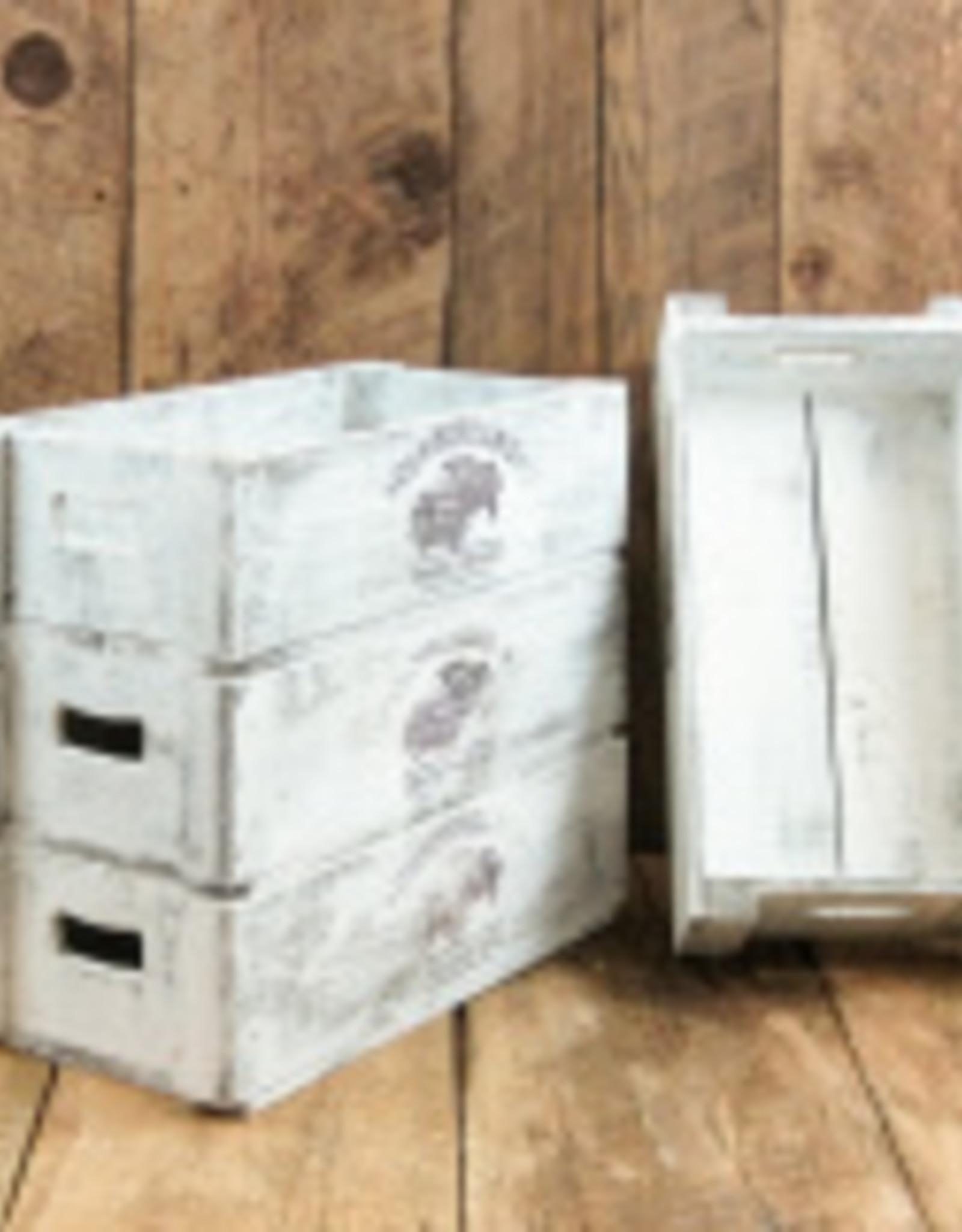 Cumberland Crates Cumberland Crates Fancy Frannie Vintage White