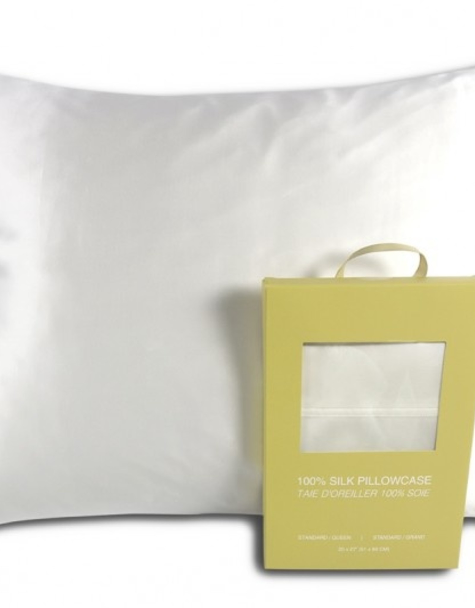 Alamode Home Pillow Case Silk RJS Fairmile Queen White ( Single )
