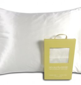 Alamode Home Pillow Case Silk RJS Fairmile Queen White ( Single )