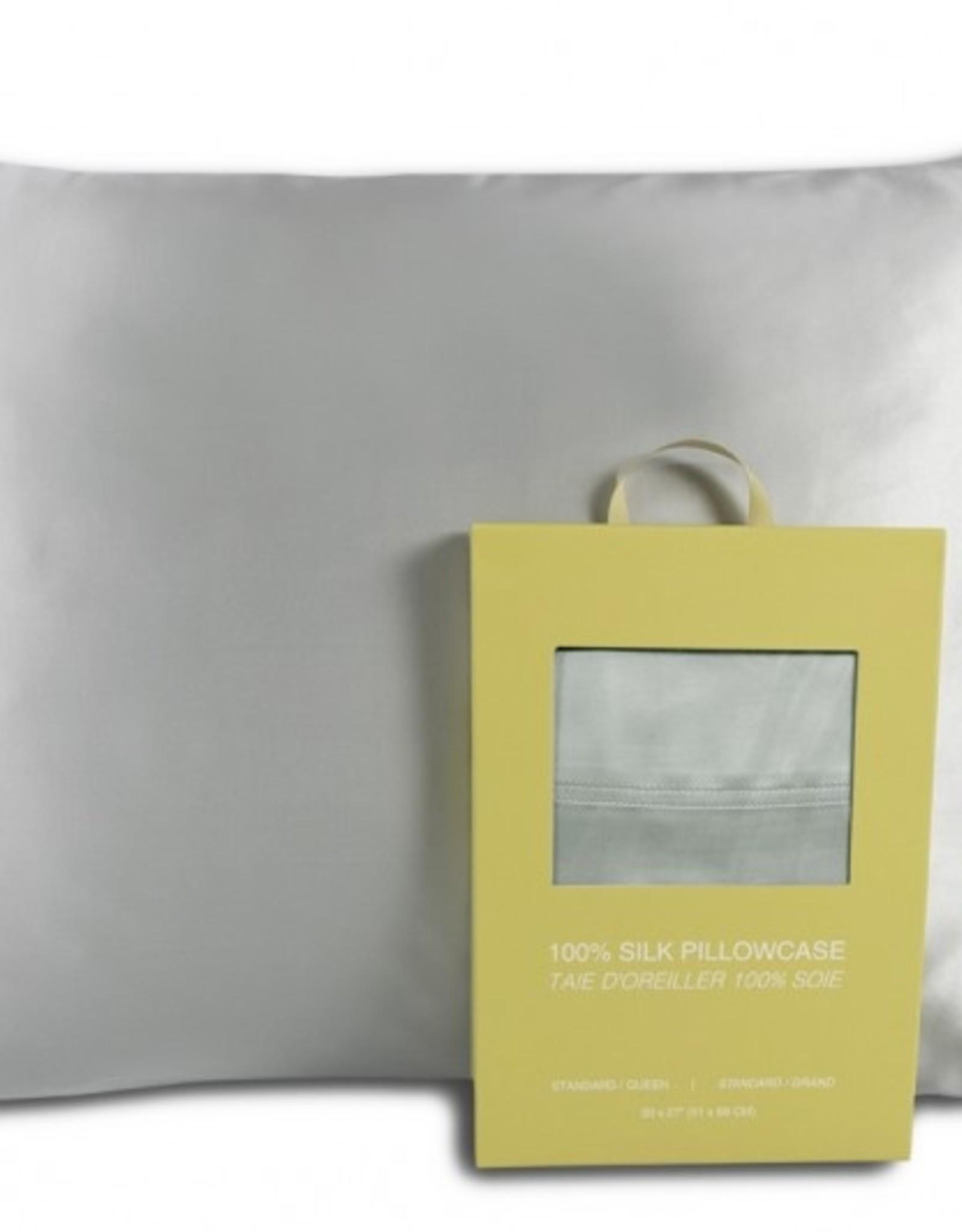 Alamode Home Pillow Case Silk RJS Fairmile Queen Silver ( Single )