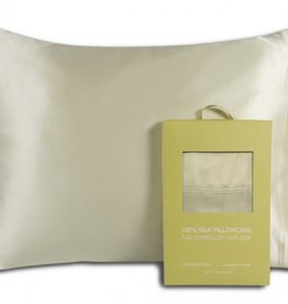 Alamode Home Pillow Case Silk RJS Fairmile Queen Ivory ( Single )