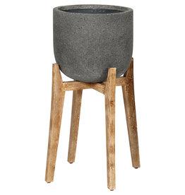 LH Imports Planter LH Round Large Standing Pot  PAT011-L