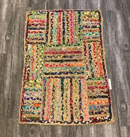 Fab Styles Rugs Fab Styles Jute Multi Colour Stripes 2 x 3