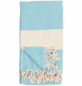 Pokoloko Turkish Towel Pokoloko Diamond Aqua TTD2