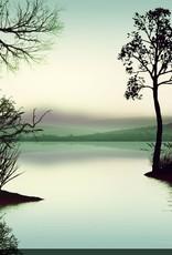 Streamline Art Watery Landscape 38 x 38