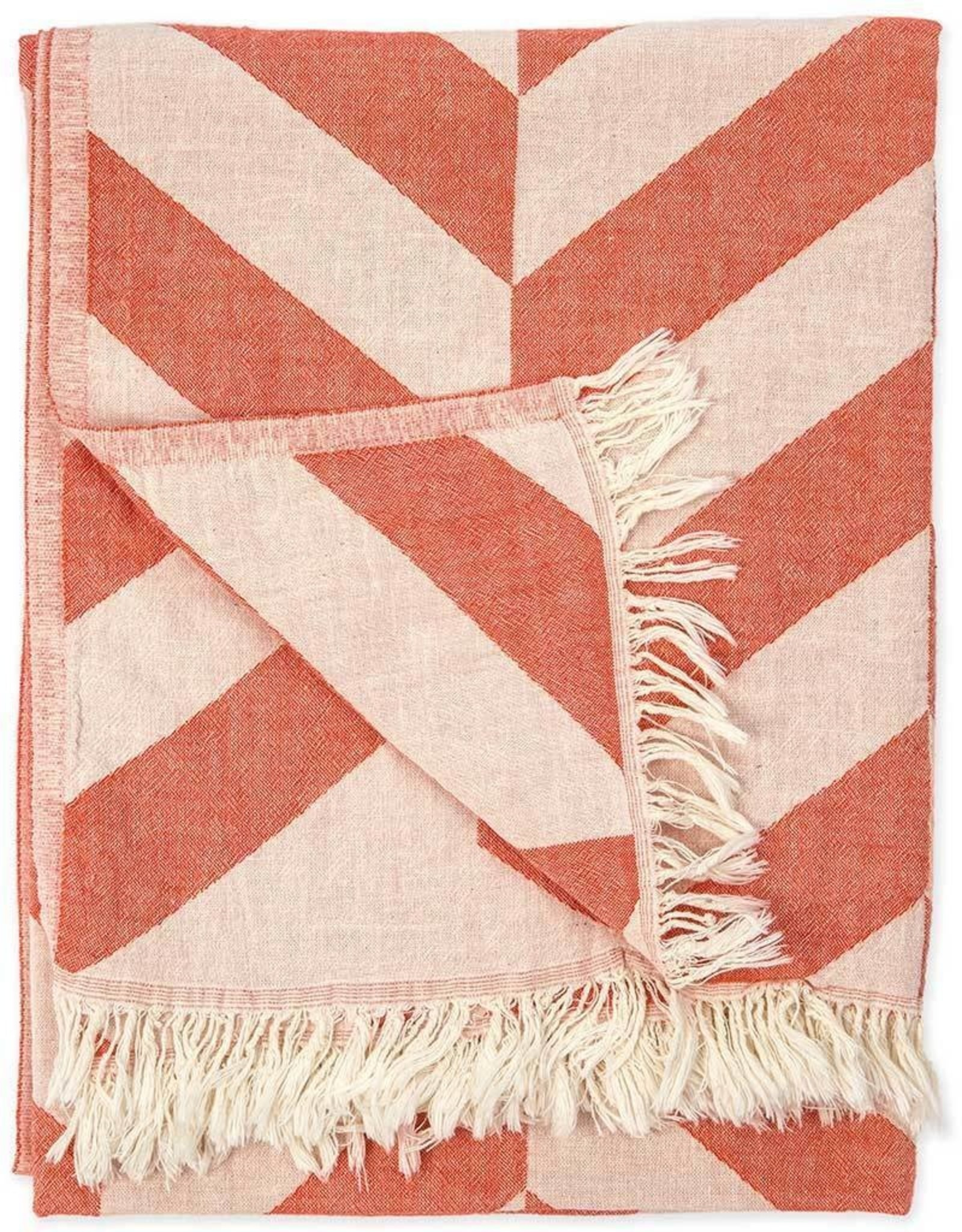 Pokoloko Turkish Towel Pokoloko Large Chevron Mandarin TTLC1