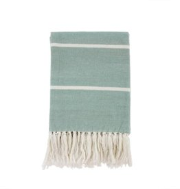 Indaba Throw Indaba Mint Brushed Cotton