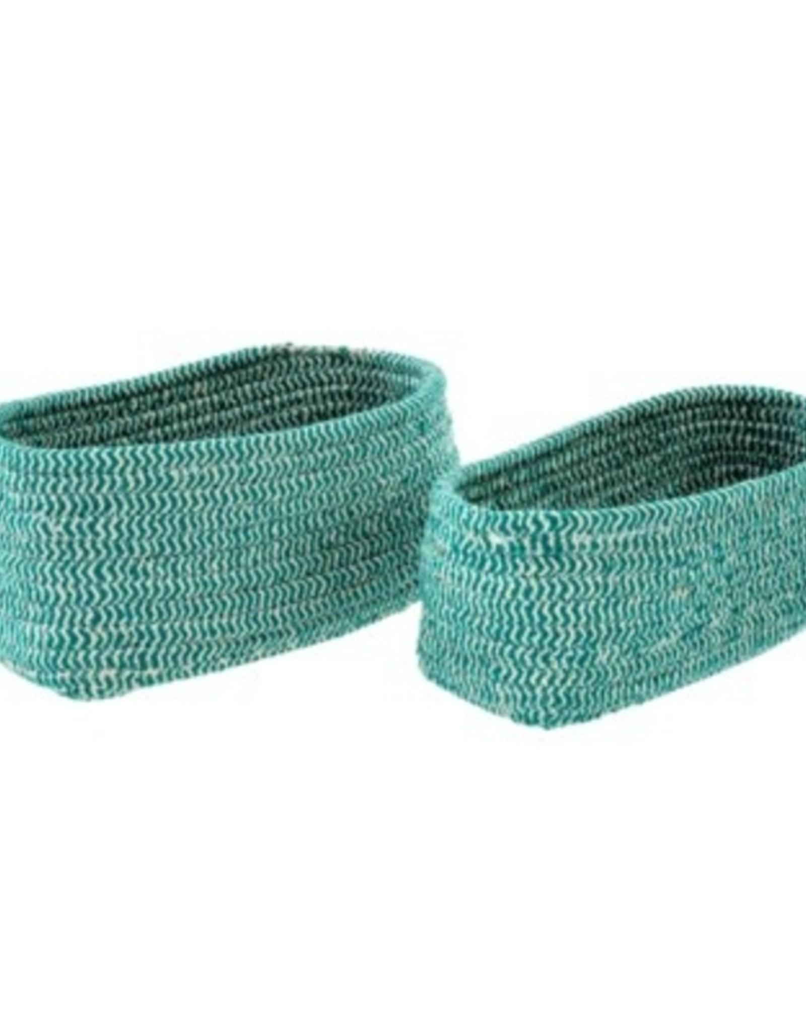 Indaba Basket Indaba Turquoise Twine Large Oval