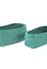Indaba Basket Indaba Turquoise Twine Small Oval