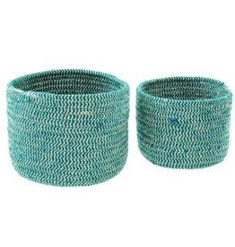 Indaba Basket Indaba Turquoise Twine Large Round