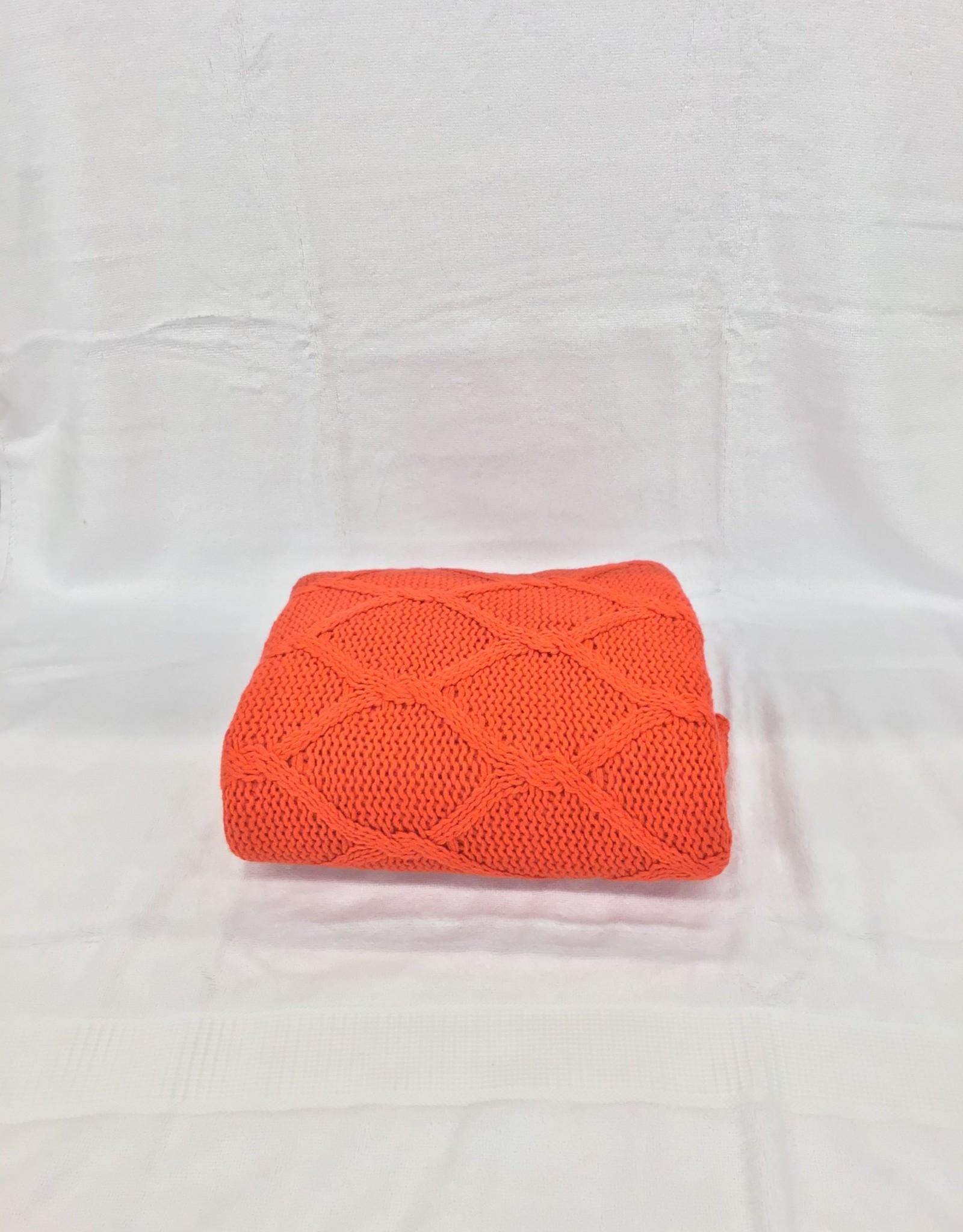 Intermark Throw KAS  Hugo Red Knit