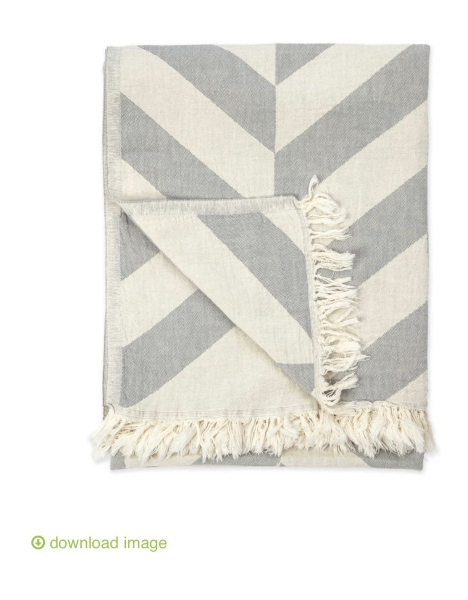 Pokoloko Turkish Towel Pokoloko Large Chevron Light Grey TTLC4