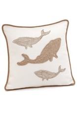 Cushions Whale White 18 x 18
