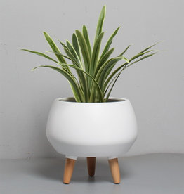 Cathay Planter Cathay Avery Ceramic White 08-1966